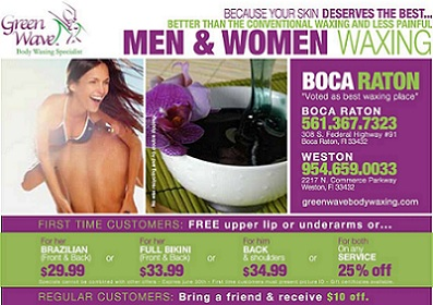 Green Wave Body Waxing Coupon
